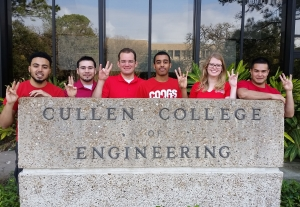 University of Houston students Anas Ebrahim, Daniel Rodriguez, Spencer Richards, Hamdi Sherif, Megan Wood and Willians Padilla receive IADC Houston Chapter scholarships.