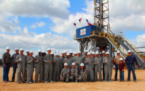 "Independence Contract Drilling (ICD) hosted a rig tour for 23 students from the Texas A&M University IADC Student Chapter. The rig, ICD ShaleDriller 211, was drilling in the Austin Chalk just west of Columbus, Texas, for GeoSouthern Energy Corp. ""Special thanks to Master Rig International for cooking at the last minute, and to our customer GeoSouthern Energy Corp,"" remarked ICD VP-Business Development Chris K Menefee."