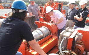 On 23 February 33 students with the IADC Student Chapter at the University of Louisiana-Lafayette (ULL) participated in a facility tour organized by MI Swaco. The students were able to see shale shakers, desanders, desilters, centrifuges, dryers, choke manifolds, remote choke consolds and were told the process of solids control and pressure control with the ability to see and touch the equipment used in the processes.