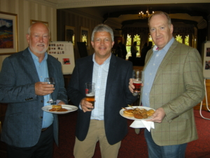 On 15 May, the IADC North Sea Chapter celebrated its 45th anniversary. Current and past chapter committee members were invited to attend a gathering to share reminiscences and stories from the past 45 years. From Left: John Atkinson, past NSC Chairman and former IADC Regional Representative; Gavin Sutherland, KCA Aberdeen, Former NSC Chairman and Pete Wilson, Rowan Companies, current NSC Chairman.