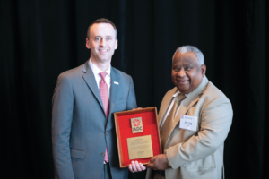IADC President Jason McFarland (left) presented an Exemplary Service Award to Arun Karle on 8 November at the 2018 IADC Annual General Meeting in New Orleans, in recognition of his extended service to IADC and its members over the past decades.