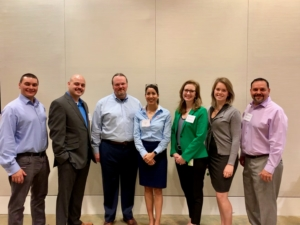 The Cybersecurity Committee hosted a workshop on 13 December at BP's offices in Houston. The planning committee included (from Left to Right): Ben Ramduny, Seadrill Juan Negrete, Rowan Nathan Singleton, H&P Melissa Mejias, IADC Michael Edwards, BP Brittani Enget, BP Matthew Romero, ABS Consulting