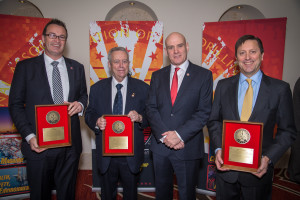 David Reid, Leon Robinson and Don Jacobsen accept Exemplary Service Awards from IADC President and CEO Stephen Colville at the 2013 IADC Annual General Meeting